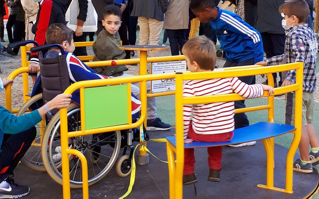 Inauguration de l'aire de jeux inclusive de l'hôpital Necker-Enfants malades