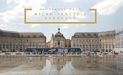 Micro-trottoir à Bordeaux