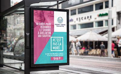 1re campagne nationale d'affichage d'appel à dons pour les soins palliatifs