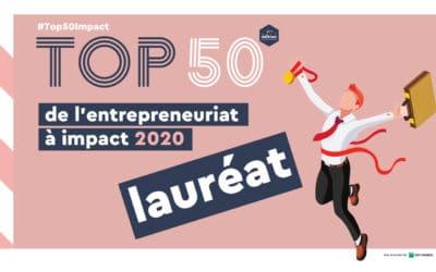 HELEBOR dans le top 50 de l'entrepreneuriat à impact 2020