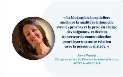 Témoignage d'Anne Paredes, Chargée de mission à la Direction des Activités Sociales d'AG2R LA MONDIALE